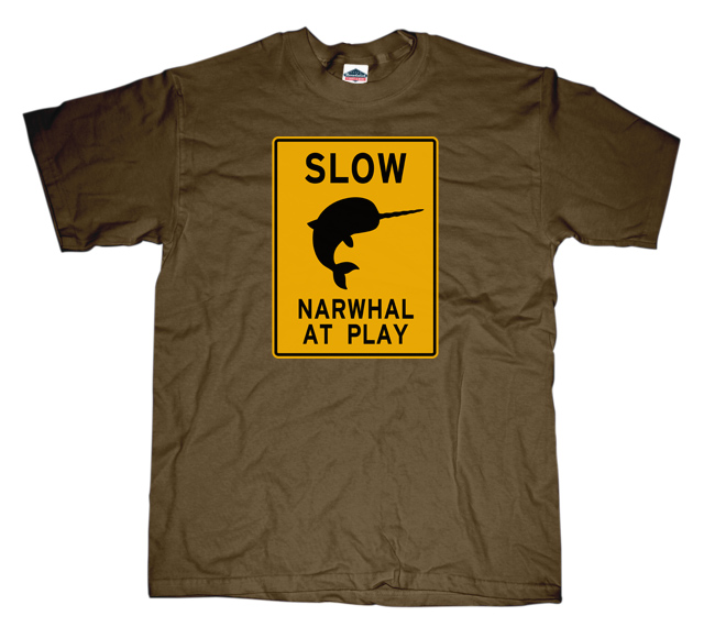 Narwhal at Play Sign T-shirt