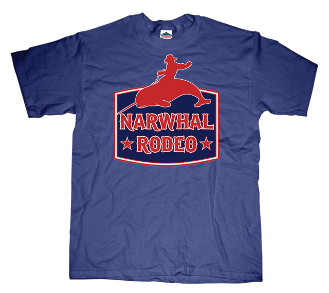Narwhal rodeo sign T-shirt