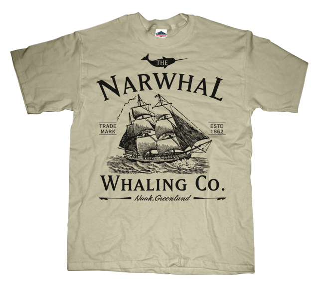 Narwhal whaling company T-shirt